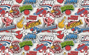 Logos NBA version cartoon des 80's