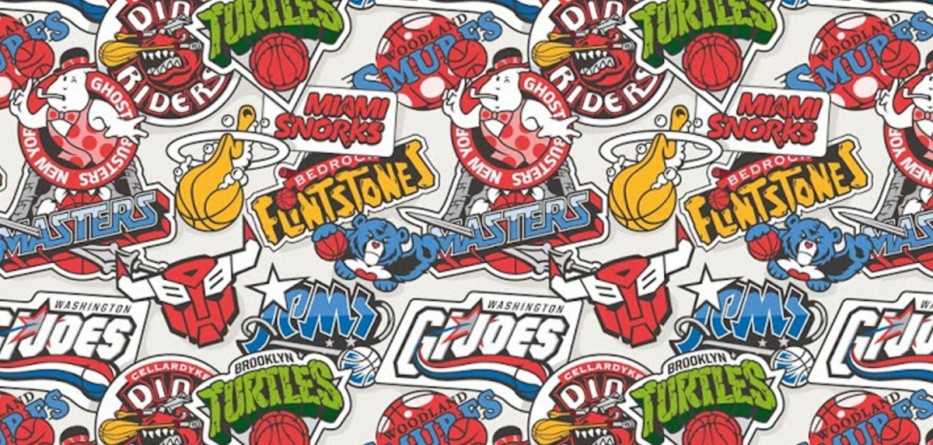 vanila-bcn-logos-nba-team-basketball-mashup-illustration-design-studio-barcelone-espagne-cartoon-80s
